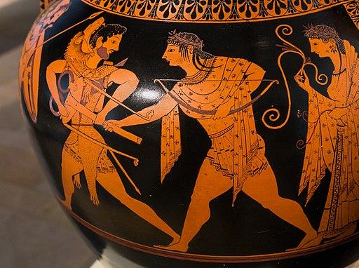 Andokides Painter ARV 3 1 Herakles Apollon tripod - wrestlers (08)