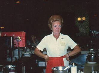 Waiting staff - Miami Beach waitress in 1973