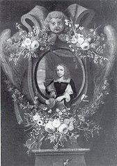 Portrait of a Man Wreathed by Flowers