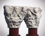 Anonyme - Chapiteau de colonnes jumelles , Les Pèlerins d'Emmaüs - Musée des Augustins - ME 263 (1).jpg