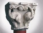 Anonyme toulousain - Chapiteau de colonne simple , Lions dans des lianes - Musée des Augustins - ME 221 (1).jpg