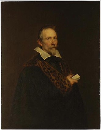 Joannes Woverius - A portrait of Woverius by Anthony van Dyck, c. 1632