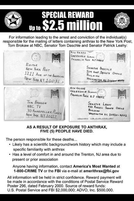 anthrax attacks 2018
