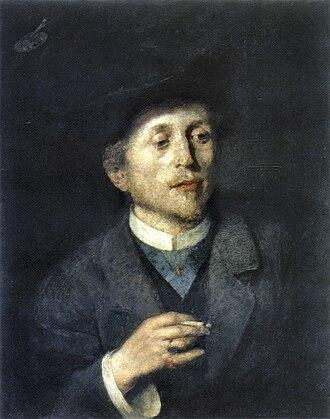 Anton Ažbe - Self-portrait, c. 1886