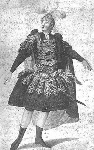 Opera seria - Anton Raaff, the German tenor who created the title role in Mozart's Idomeneo. Seen here performing a heroic role.