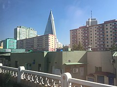 Apartment buildings and Ryugyong Hotel.jpg