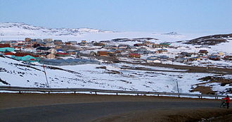 Iqaluit - View of Apex, a suburban neighbourhood of Iqaluit.