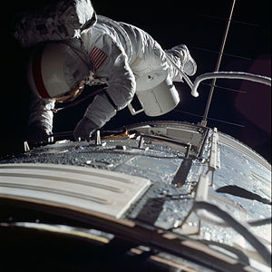 Ronald Evans (astronaut) - Evans during his trans-Earth EVA on Apollo 17