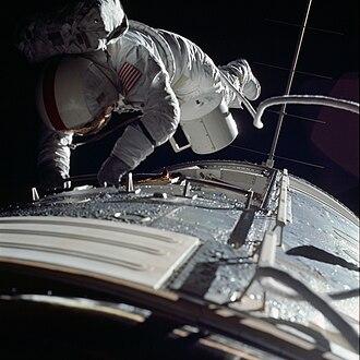 Ronald Evans (astronaut) - Evans during his trans-Earth EVA on Apollo 17