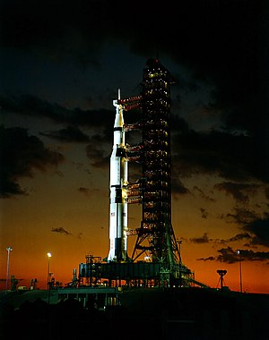 Apollo 4 - Apollo 4 on the launch pad, November 8, 1967