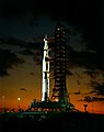 Apollo 4 on the night before launch, Kennedy Space Center, Florida, 1967.jpg