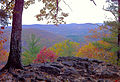 Appalachian Trail Pine Knob Loop Trail section in Housatonic Meadows State Park scenic overlook of the Housatonic River.JPG