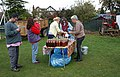 Apple juice bottling, Colwall cricket pitch - geograph.org.uk - 1540184.jpg