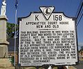 Appomattox Court House new and old marker.jpg