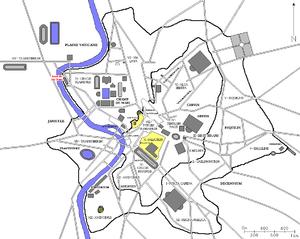Piscina Publica - Map showing the Piscina Publica bottom right