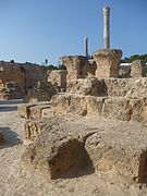 a colour photograph of the remains today of part of ancient Carthage