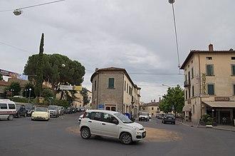 Camucia - Camucia center beside the Chiesa di Cristo Re