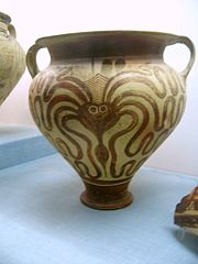 Minoan vase with octopus