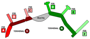 Arlanda Central Station - Map of Stockholm-Arlanda Airport; Arlanda C is located below SkyCity