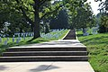 Arlington National Cemetery - looking W up Custis Walk from Schley Dr - 2011.jpg