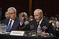 Army Gen. Martin E. Dempsey, chairman of the Joint Chiefs of Staff, and Defense Secretary Chuck Hagel testify on U.S. policy regarding the threat from the Islamic State of Iraq and the Levant, known as ISIL, be 140916-D-KC128-368c.jpg
