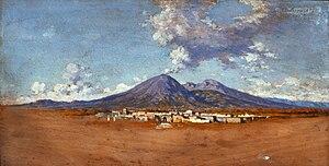 Eduardo Dalbono - Studio o Il Vesuvio, 1872 (Fondazione Cariplo)