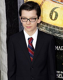 Asa Butterfield at the Hugo premiere in New York City on 21 November 2011