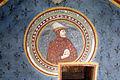 Asciano, museo di palazzo corboli, int., sala delle 4 stagioni con affreschi attr. a Cristoforo di Bindoccio e Meo di Pero, XIV sec. inverno.JPG