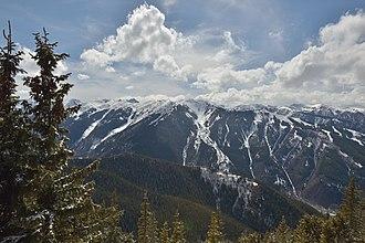 Aspen Highlands - Image: Aspen Highlands Highland Peak Hunter Peak