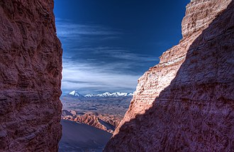 "Desert - Valle de la Luna (""Valley of the Moon"") in the Atacama Desert of Chile, the world's driest non-polar desert"