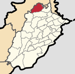 Attock District highlighted within Punjab Province