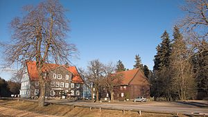 Bundesstraße 241 - The B 241 reaches its highest point at the Gasthof Auerhahn inn in the Harz mountains (636 m above  NHN)