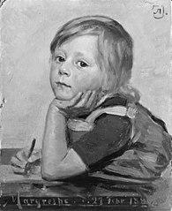 Kunstnerens datter Margrethe