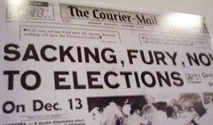 English: In Australia, on November 11 1975, th...