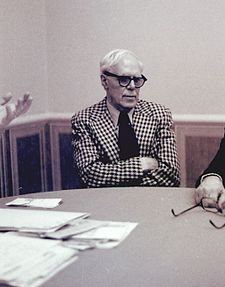 Author Martin Gardner at a CSICOP Executive Council Meeting in 1979