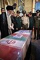 Ayatollah Khamenei in Funeral of Mohsen Hojaji in Tehran 04.jpg