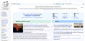 Azerbaijani Wikipedia Main Page screenshot with Facebook promotion.png