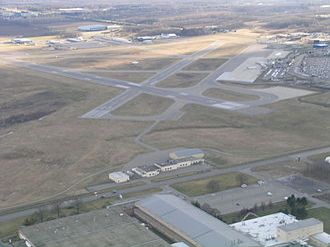 Kalamazoo/Battle Creek International Airport - Image: Azoairportaerial