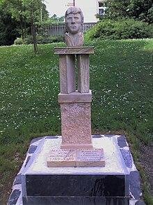 Büste von Alexander von Humboldt im Kurpark Bad Steben (Quelle: Wikimedia)