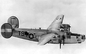 RAF Attlebridge - Consolidated B-24J-20-FO Liberator Serial 44-48807 of the 784th Bomb Squadron
