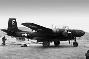 731st Bombardment Squadron - B-26 Invader camouflaged for night operations in Korea