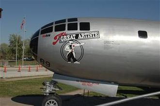 The Great Artiste - A B-29 painted to look like The Great Artiste (the original plane was scrapped) at the Whiteman Air Force Base