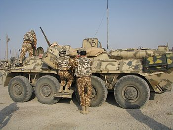 B33 Zimbru of the 341st Inf Battalion in Irak