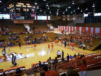 Interior view of Anderson Arena on the campus ...