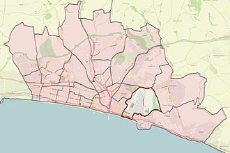 Brighton and Hove City Council election, 2011 - East Brighton highlighted