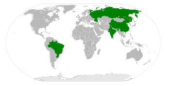 Map of BRIC countries