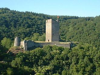 Manderscheid, Bernkastel-Wittlich - Ruins of the Oberburg
