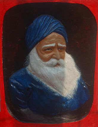 Komagata Maru incident - Portrait of Baba Gurdit Singh, Komagata Maru Memorial, Budge Budge