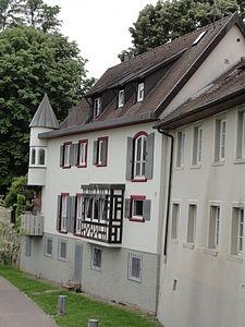 Bad Säckingen - Schönaugasse Gebäude Rheinufer.JPG