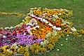 Baltijas ceļa piemiņai veidots ziedu paklājs Suntažos, Suntažu pagasts, Ogres novads, Latvia - panoramio (1).jpg